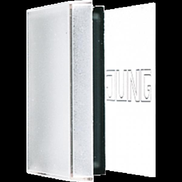 JUNG A590NAGLPL Plexihaube mit Einlage für Schriftfeld 50 x 50 mm