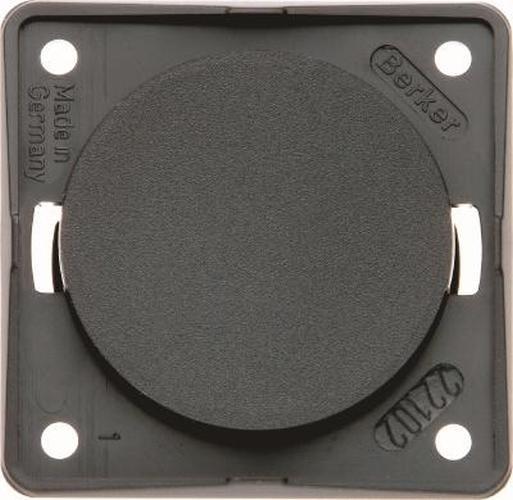 Berker 945162510 Blindverschluss, Integro Modul-Einsätze, Schwarz Glänzend