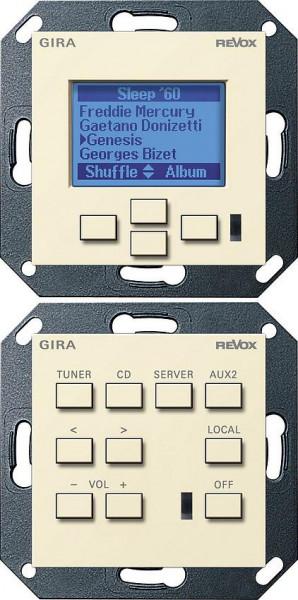 GIRA 054001 Revox Multiroom System Kontrolleinheit M218/M217 Cremeweiß-Glänzend