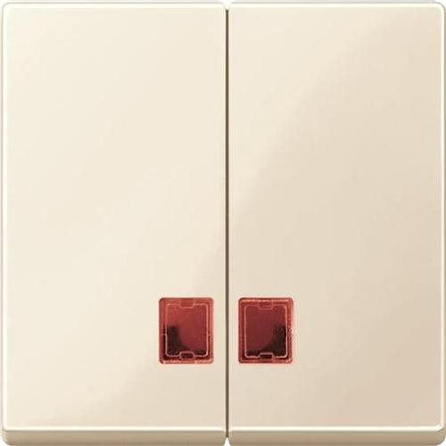 Merten MEG3456-0344 Doppelwippe mit rotem Symbolfenster Weiß-Glänzend