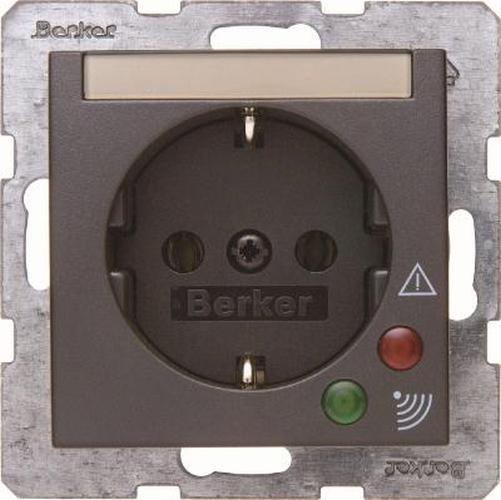 Berker 41081606 Steckdose SCHUKO mit Überspannungsschutz B.3/B.7 Anthrazit, Matt
