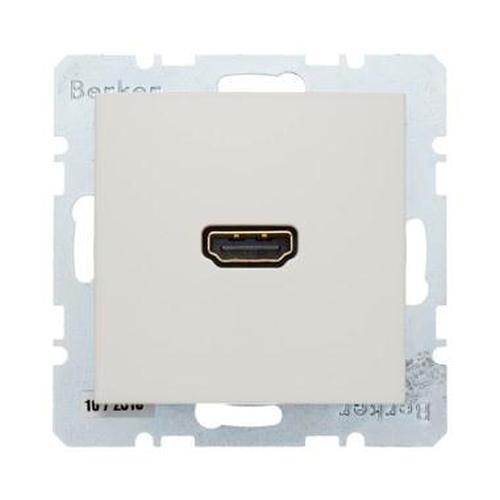 Berker 3315438982 High Definition Steckdose mit 90°-Steckanschluss S.1 Weiß, Glänzend
