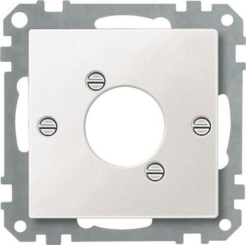 Merten 468919 Zentralplatte für Audio-Steckverbinder XLR Polarweiß