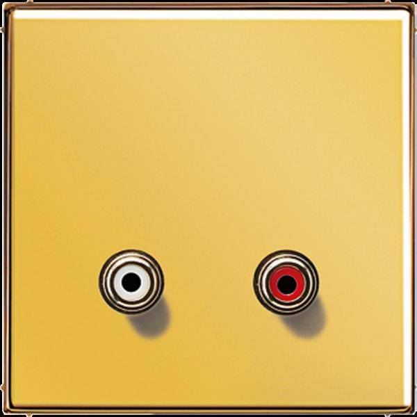 JUNG MAGO1031 Cinch Audio-Composite Video Goldfarben